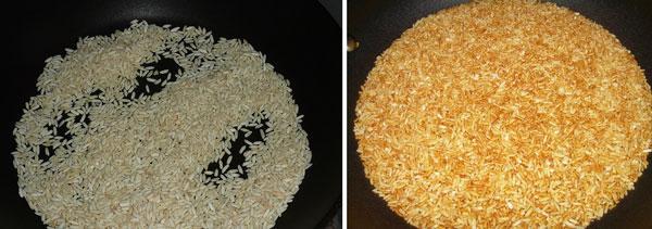 rang gạo nấu cháo