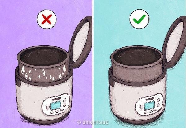 Các lỗi thường gặp trong nhà bếp