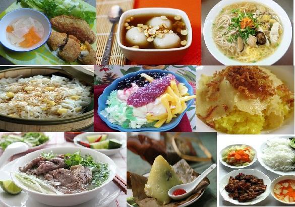 Các món ăn mang hương vị Hà Nội