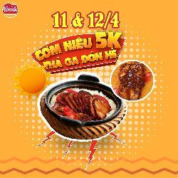 KOMBO khuyến mãi 5K/niêu BBQ ăn thả ga đón hè