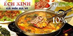 Nhà hàng Ếch Xinh - Đa dạng các món ăn dân giã đồng quê