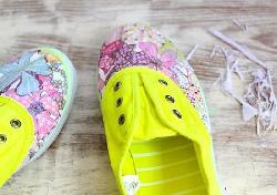 Cách làm mới giày vải cực đẹp mà dễ làm