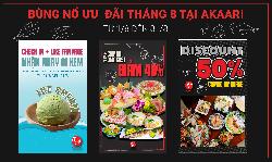 Khám phá ẩm thực Nhật Bản với combo lên tới 10 món tại nhà hàng Nhật Bản AKAARI